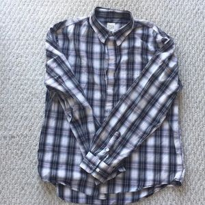 AG gray and white button down, XL